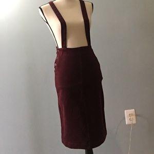 NWOT Zara XS Midi Skirt with Straps
